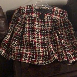 Short cut style tweed jacket